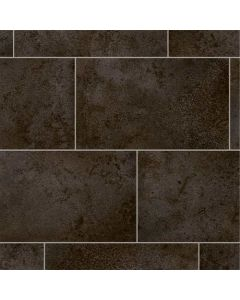 Abingdon Sheet Vinyl SoftStep Grey-Tex Black Tile