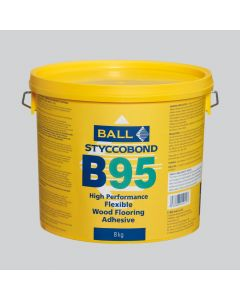 F Ball Styccobond B95 Flexible Wood Flooring Adhesive 8kg