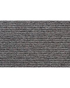 Heckmondwike Broadrib Carpet Tile Kingston Grey 50 X 50 cm