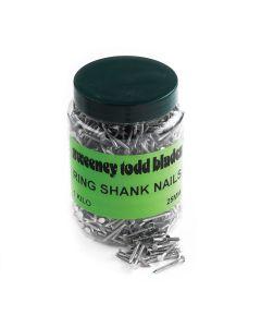 Ring Shank Nails 25mm 1kg Tub Cat No 10098