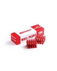 Red Plastic Plugs Cat No 10100
