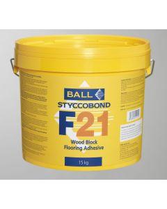 F Ball Styccobond F21 Wood Block Flooring Adhesive 5KG