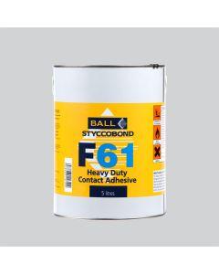 F Ball Styccobond F61 Heavy Duty Contact Adhesive 5L