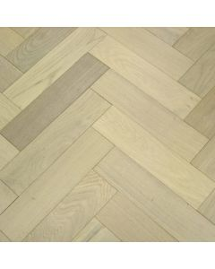 Furlong Flooring Herringbone Oak Rustic Scandic White Brushed & UV Oiled (Item A) 17738