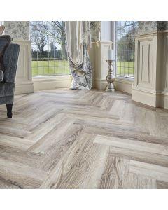 Burrnest Victoria Parquet Luxury Vinyl Flooring - Bleach Light Oak