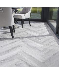 Burrnest Victoria Parquet Luxury Vinyl Flooring - Darkened Ice Wood