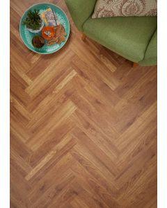 Real Textures Stanford Parquet Luxury Vinyl Flooring - Golden Plank