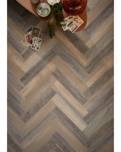 Real Textures Stanford Parquet Luxury Vinyl Flooring - Lime Washed