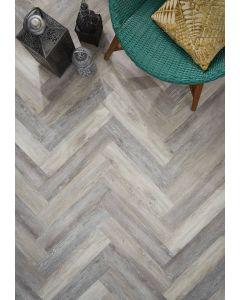 Real Textures Stanford Parquet Luxury Vinyl Flooring - Driftwood Grey Oak