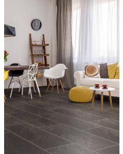 Real Textures Stanford Luxury Vinyl Flooring - Black Stone