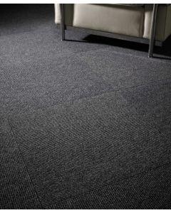 Heckmondwike Zephyr Entrance Carpet Tile Charcoal 50 X 50 cm