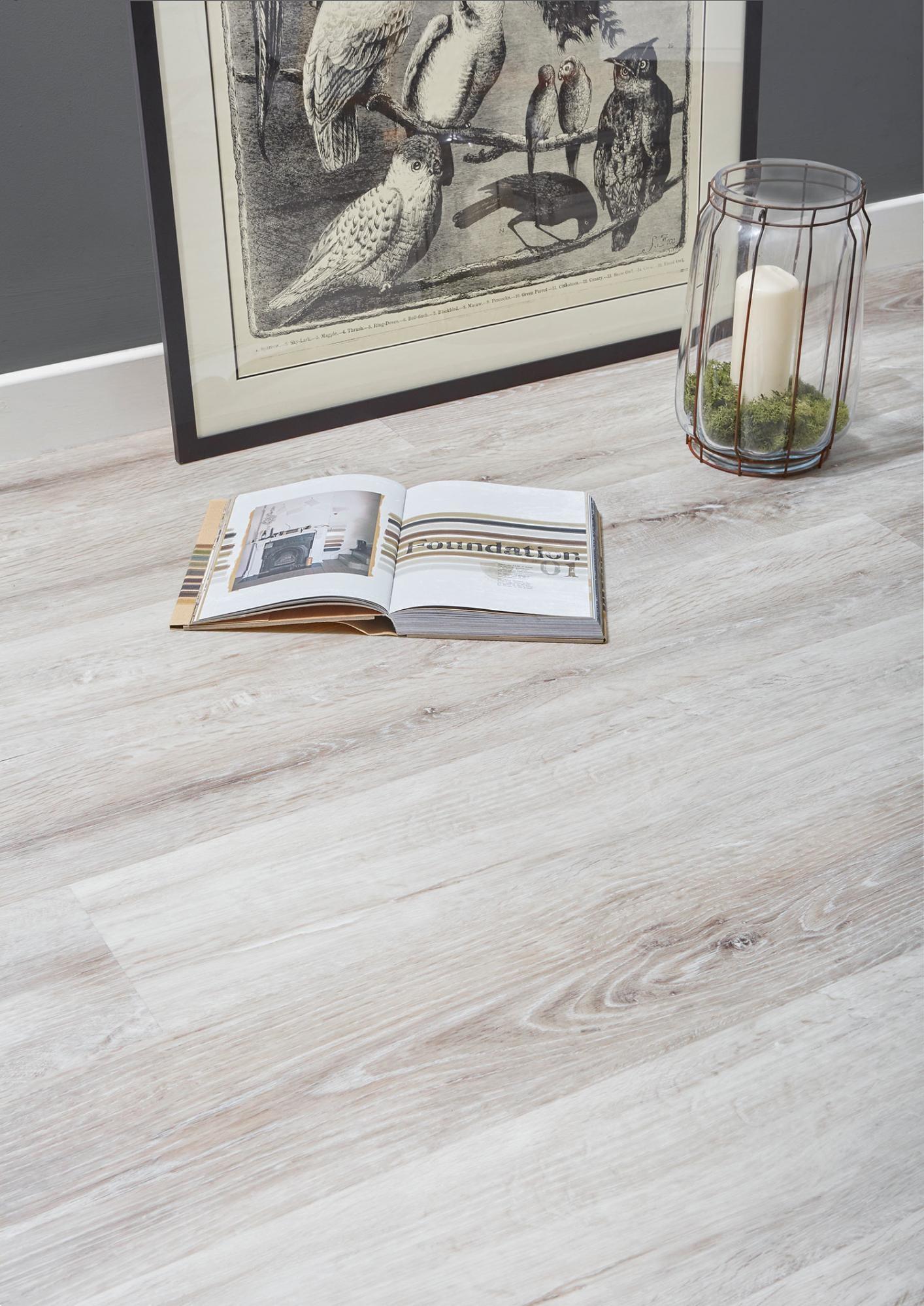 Burrnest Victoria Luxury Vinyl Flooring, White Vinyl Laminate Flooring
